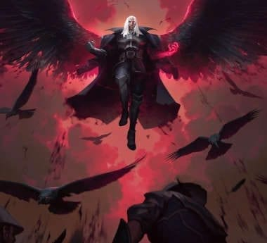 Swain, the Noxian general introduced by Riot Games for LoR