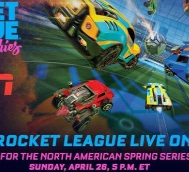 Rocket League's official poster for the RLCS Grand Finals