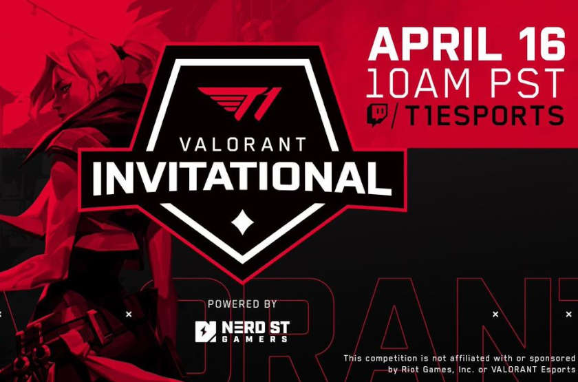T1 official Twitter promotion of their first Valorant esports tournament.