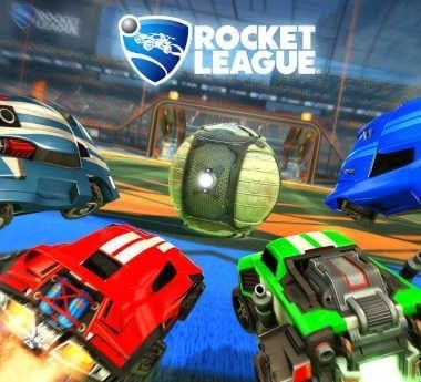Rocket League's official game cover.