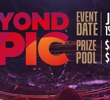 Beyond the Summit's official featured logo for the upcoming Dota 2 tournament.