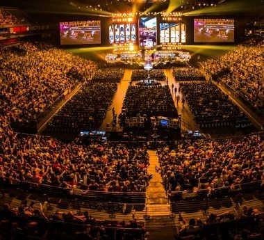 ESL One Cologne's official arena with live audience.